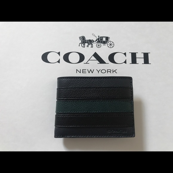 0b1600198f77e NWT Coach Men s Slim Billfold Wallet F26171